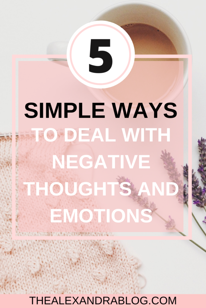 how to get rid of negative thoughts pin for pinterest