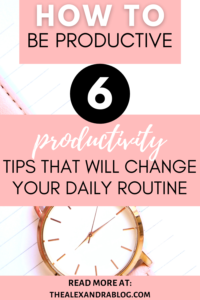 how to manage your time better pin for pinterest