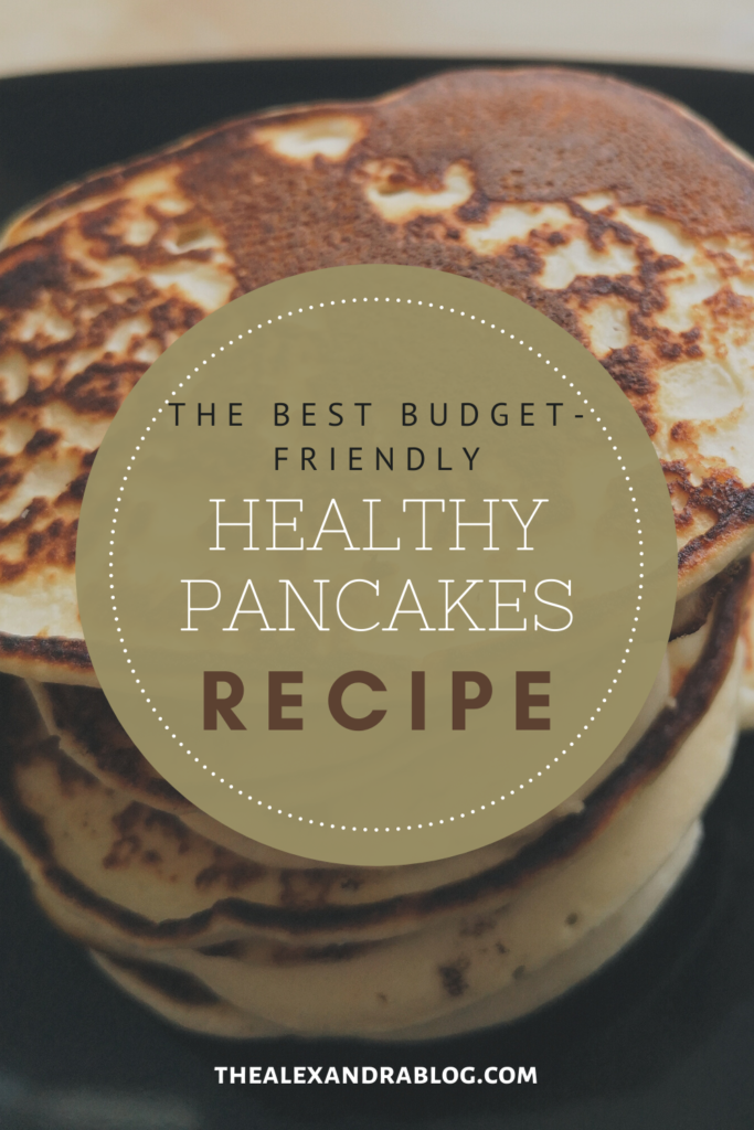 healthy high protein pancakes pin for pinterest