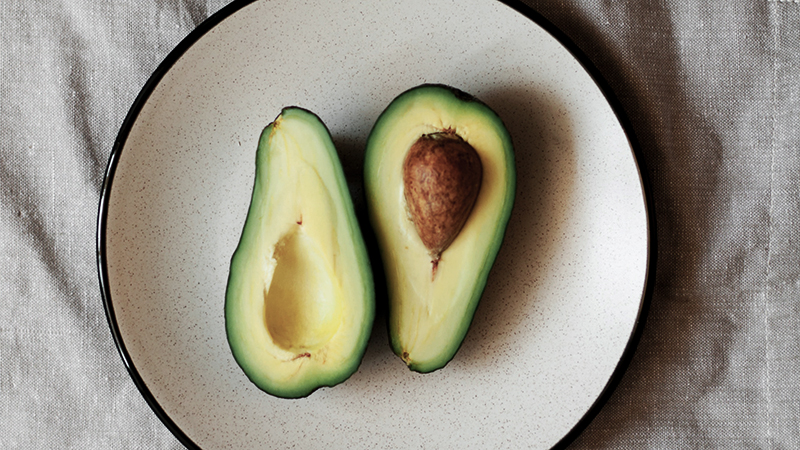 rich in healthy fats avocado