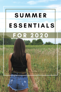Summer essentials pin for pinterest