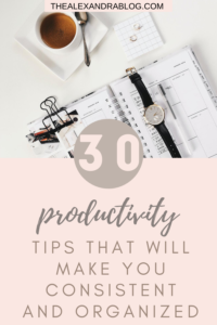how to be productive genius productivity tips pin for pinterest